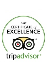2017 Trip Advisor Certificate  of Excelence Award Winner