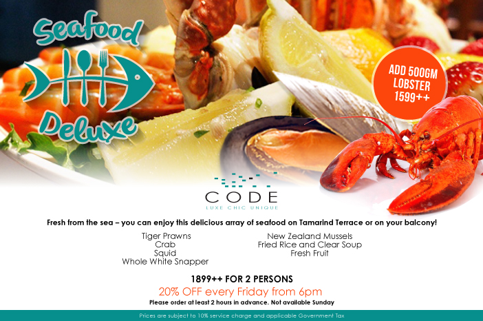 Seafood Deluxe promo CODE hotel